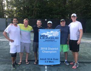 Men's 3.0 District Tennis Champions