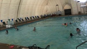 pool with bubble for indoor swimming