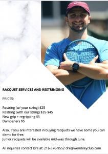 racquet services
