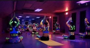 Buti glow yoga class
