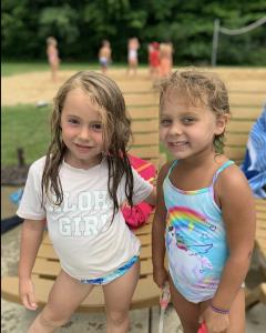 camp kids enjoying the pool