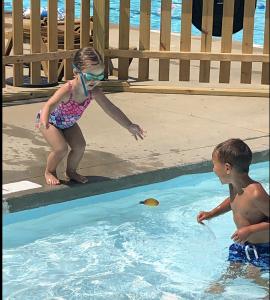 enjoying summer at the Wembley pool