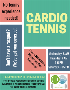 Cardio tennis information