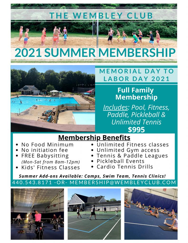 2021 Summer membership
